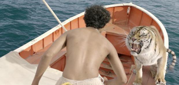 """נער ונמר בים. השרדות ב-3D. """"חיי פאי"""""""