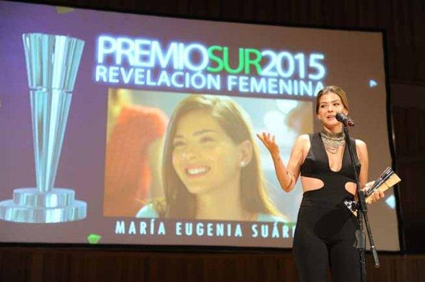 צ'ינה סוארז מקבלת את פרס התגלית הנשית, אתמול בארגנטינה