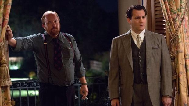 """מייקל סטולברג (אד ג'י רובינסון) ולואי סי.קיי (ארלן הרד). המסביב של טרמבו ב""""טרמבו"""""""