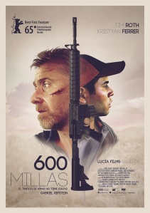 600 millas poster